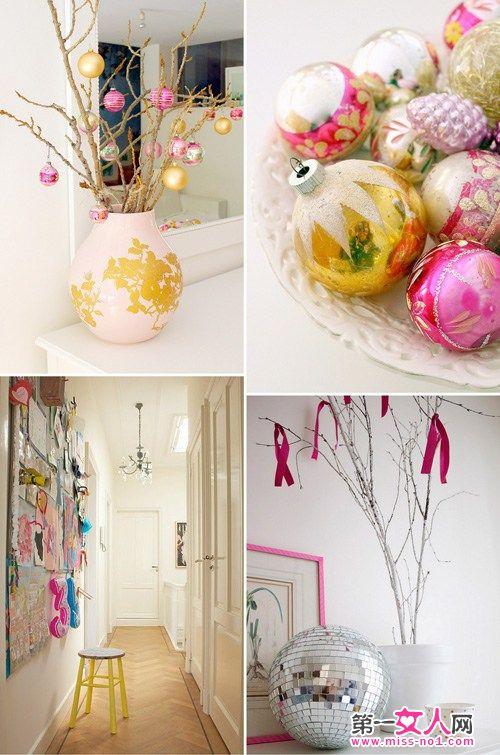 小清新的圣诞节室内装饰